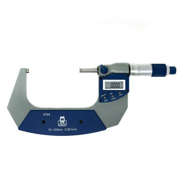 Moore & Wright 75-100mm IP54 Digital Micrometer MW201-04DAB