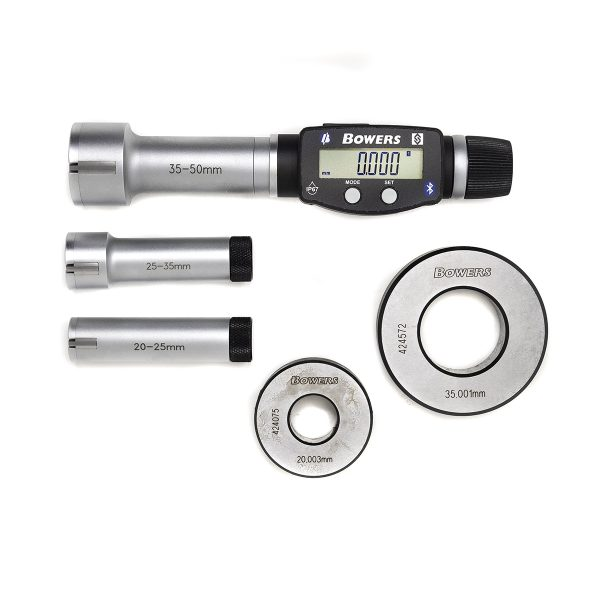 Bowers SXTD5M-BT Three Point Digital Bore Gauge Set UKAS 20-50mm