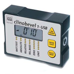 TESA 05330203 Clinobevel 1 USB Electronic Inclinometer