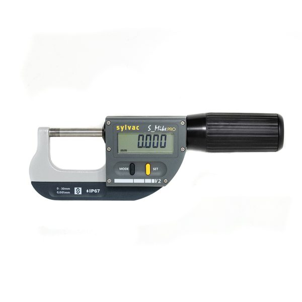 Sylvac 30-803-0300 IP67 S_Mike Pro Digital Micrometer 0-30mm (0-1.2″)