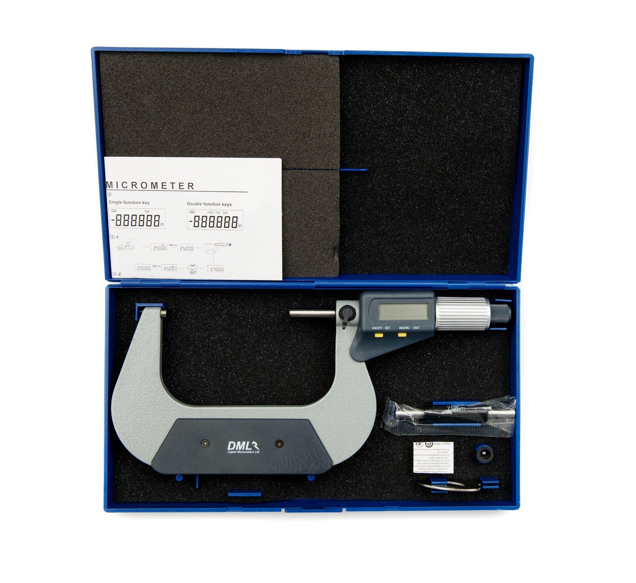 75-100mm IP54 Digital Micrometer DM3100 - Digital Micrometers Ltd