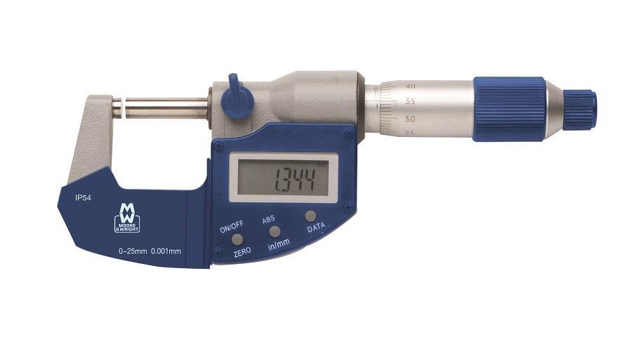 75-100mm IP54 Digital Micrometer MW201-04DAB - Digital Micrometers Ltd