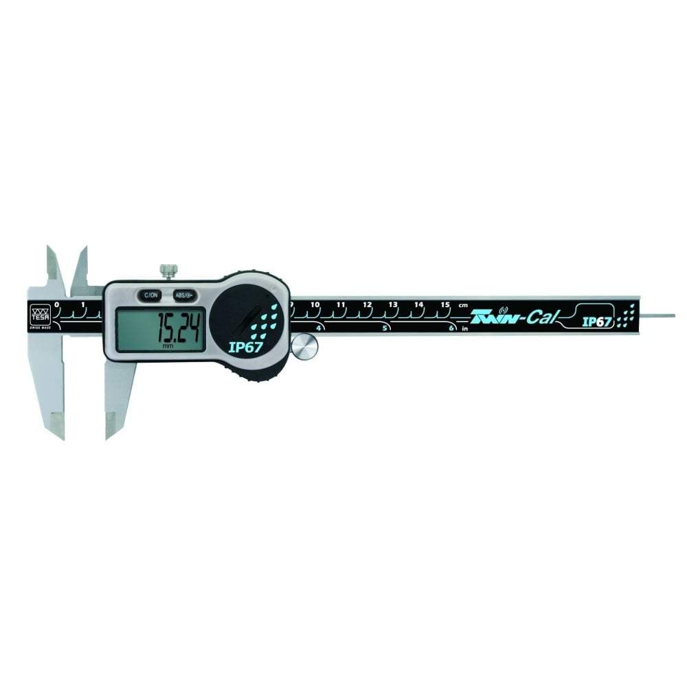 tesa twin cal ip67 150mm digital caliper 00530319