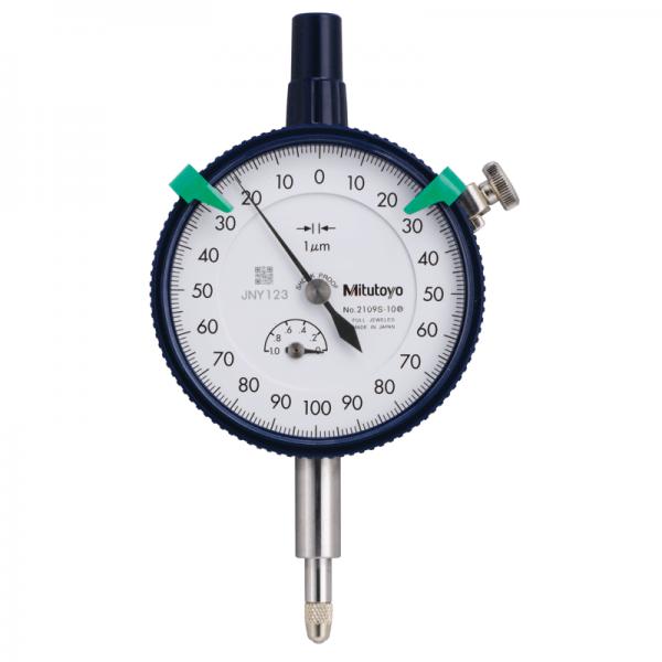 Mitutoyo 2109S-10 Dial Indicator Lug Back 0-1mm (0.001mm) Jeweled Bearing Shockproof