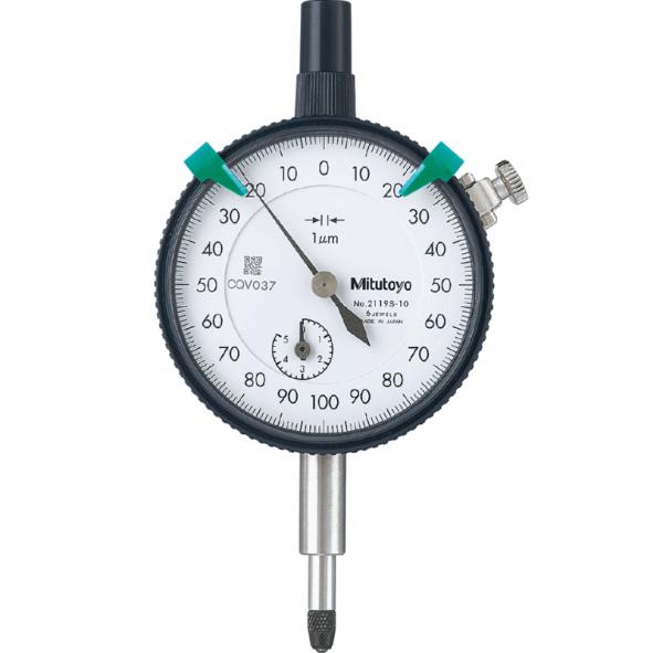 Mitutoyo 2119S-10 Dial Indicator Lug Back 0-5mm (0.001mm) Jeweled Bearing