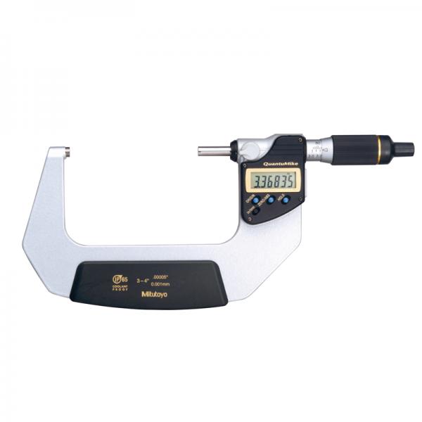 "Mitutoyo 293-183-30 QuantuMike IP65 Inch/Metric 75-100mm (3-4"") SPC Data Output"