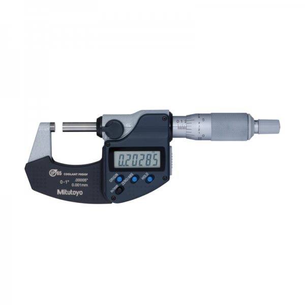 """Mitutoyo 293-330-30 Digimatic Micrometer Inch/Metric 0-25mm (0-1"""") IP65 With SPC Data Output"""