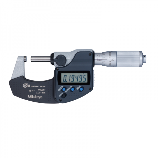 """Mitutoyo 293-335-30 Digimatic Micrometer 0-25mm (0-1"""") IP65 Friction Thimble SPC Data Output"""