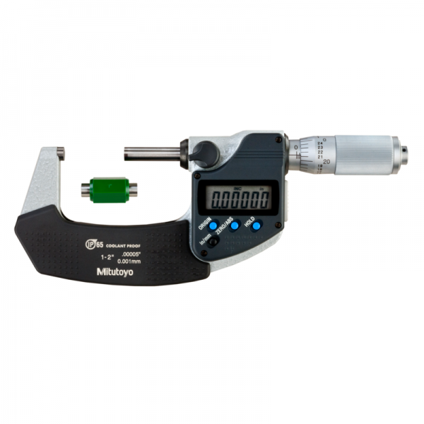 """Mitutoyo 293-336-30 Digimatic Micrometer 25-50mm (1-2"""") IP65 Friction Thimble SPC Data Output"""
