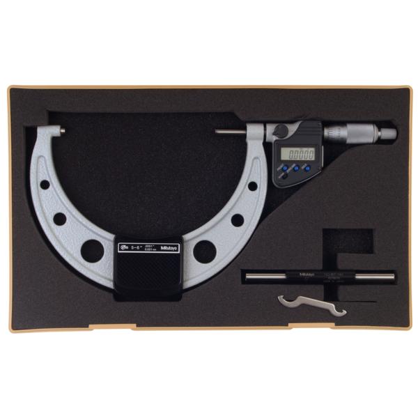 "Mitutoyo 293-351-30 Digimatic Digital Micrometer IP65 125-150mm (5-6"") SPC Data Output"
