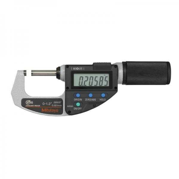 Mitutoyo 293-676-20 Digital Absolute Micrometer QuickMike Inch/Metric 0-30mm (0-1.2″)