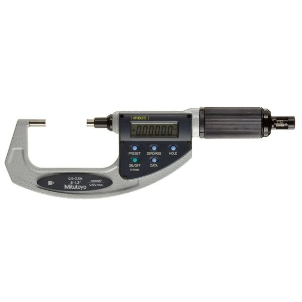 "Mitutoyo 227-217-20 Digimatic Absolute Adjustable Force Quickmike Micrometer 20-30mm (0.8-1.2"")"