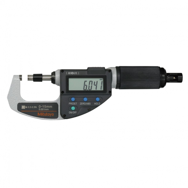 "Mitutoyo 227-211-20 Digimatic Absolute Adjustable Force Quickmike Micrometer 0-15mm (0-0.6"")"