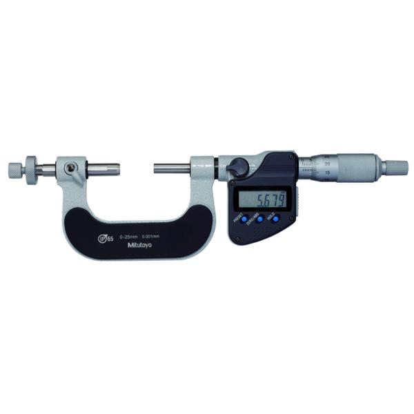 "Mitutoyo 324-351-30 Digimatic Interchangeable Anvil Gear Tooth IP65 Micrometer 0-25mm (0-1"")"