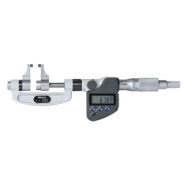 "Mitutoyo 343-351-30 Digimatic Caliper Anvil Micrometers 25-50mm (1-2"") SPC Data Output"