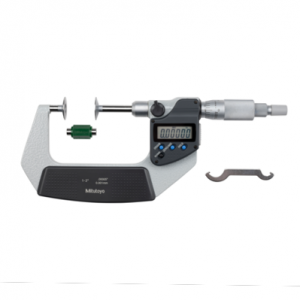 "Mitutoyo 369-351-30 Digimatic Non-Rotating Spindle Disc Micrometer 25-50mm (1-2"") SPC Data Output"