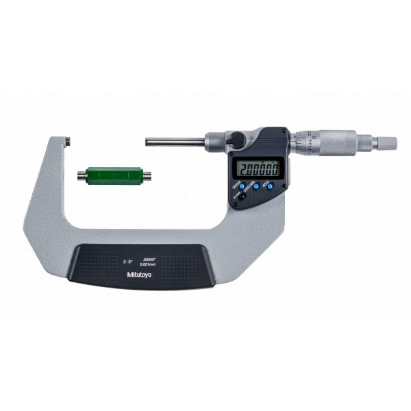 """Mitutoyo 406-352-30 Digimatic Micrometers 50-75mm (2-3"""") With SPC Data Output"""