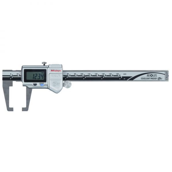 "Mitutoyo 573-751-20 ABSOLUTE Digimatic Neck Jaw IP67 Caliper 0-150mm (0-6"")"
