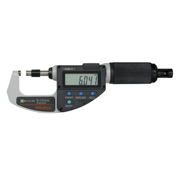 "Mitutoyo 227-215-20 Digimatic Absolute Adjustable Force Quickmike Micrometer 0-10mm (0-0.4"")"