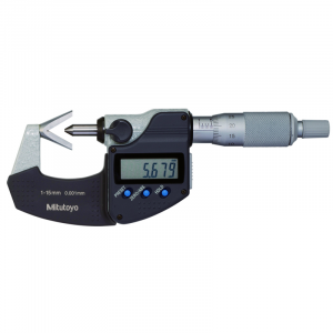 "Mitutoyo 314-351-30 Digimatic V-Anvil Micrometer 1-15mm (0.05 - 0.6"") SPC Data Output"