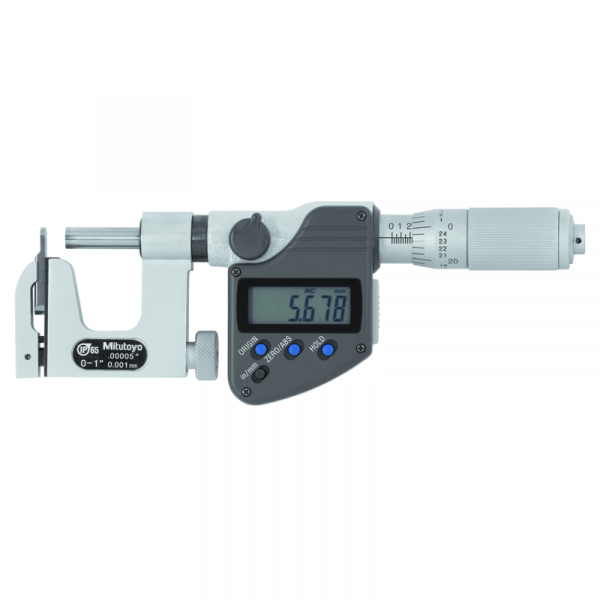 Mitutoyo 317-351-30 Uni-Mike Interchangeable Anvil IP65 Micrometer 0-25mm SPC Data Output