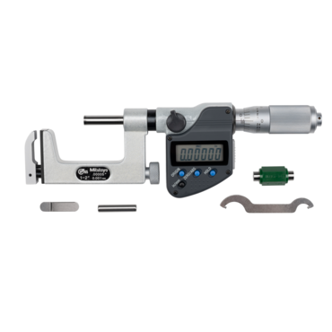 "Mitutoyo 317-352-30 Uni-Mike Interchangeable Anvil IP65 Micrometer 25-50mm (1-2"") SPC Data Output"