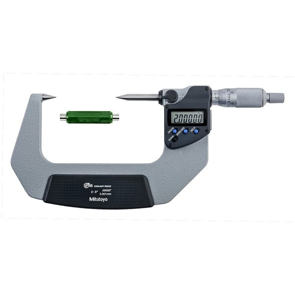 "Mitutoyo 342-363-30 Digimatic 30º Point IP65 Micrometer 50-75mm (2-3"") SPC Data Output"