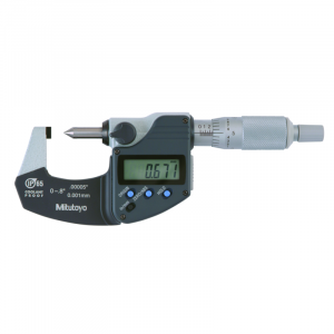 "Mitutoyo 342-371-30 Grimp Height IP65 Micrometer 0-20mm (0-0.8"") SPC Data Output"