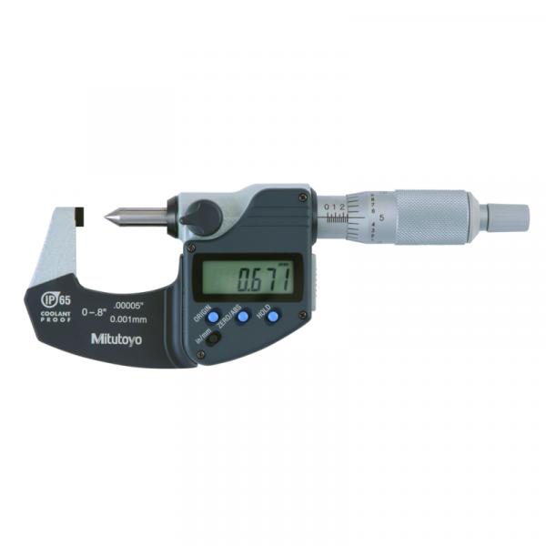 "Mitutoyo 342-371-30 Grimp Height IP65 Micrometer 0-20mm (0-0.8"") SPC Data Output"