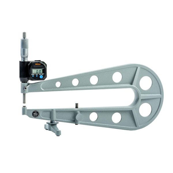 "Mitutoyo 389-714 Digimatic Sheet Metal Micrometer 0-25mm (0-1"") SPC Data Output"