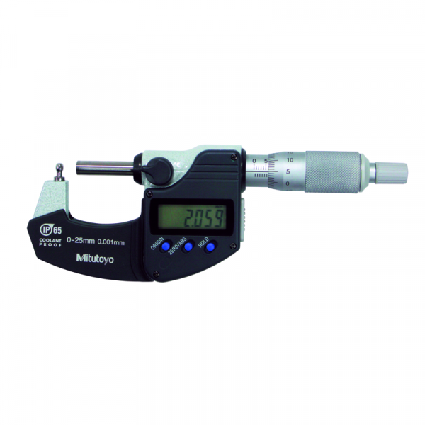 """Mitutoyo 395-362-30 Digimatic Cylindrical/Spherical Tube IP65 Micrometer 0-25mm (0-1"""") BMB2"""
