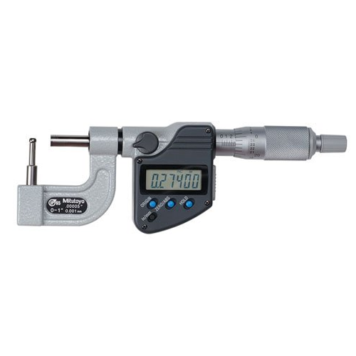 """Mitutoyo 395-363-30 Digimatic Cylindrical/Spherical Tube IP65 Micrometer 0-25mm (0-1"""") BMB3"""