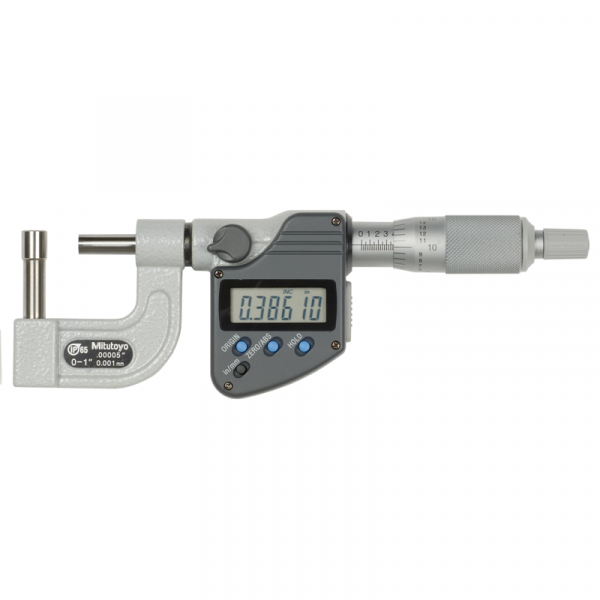 """Mitutoyo 395-364-30 Digimatic Cylindrical/Spherical Tube IP65 Micrometer 0-25mm (0-1"""") BMB4"""
