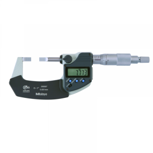 "Mitutoyo 422-330-30 Digimatic 0.75mm Blade Micrometer 0-25mm (0-1"") SPC Data Output"