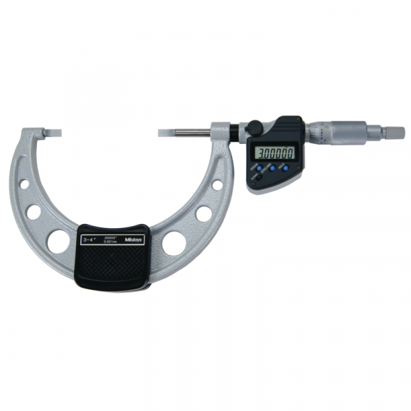 "Mitutoyo 422-333-30 Digimatic 0.75mm Blade Micrometer 75-100mm (3-4"") SPC Data Output"