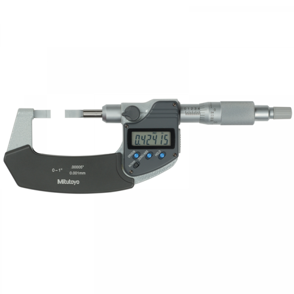 """Mitutoyo 422-360-30 Digimatic 0.4mm Blade Micrometer 0-25mm (0-1"""") SPC Data Output"""