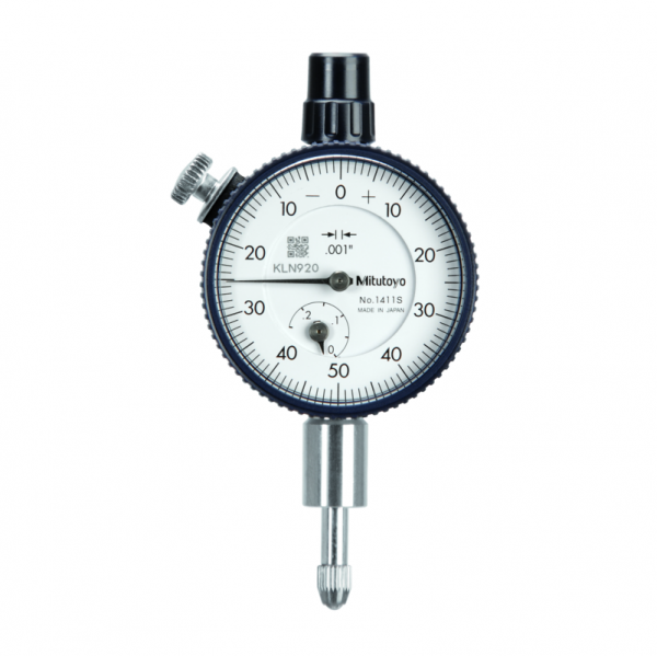 """Mitutoyo 1411S (0.001"""") Lug Back Compact Dial Indicator 0.25"""""""