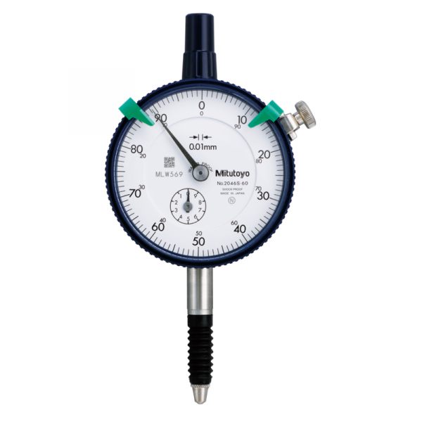 Mitutoyo 2046S-60 (0.01mm) Lug Back Graduation Dial Indicator 10mm