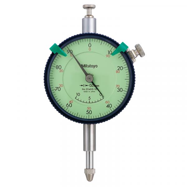 Mitutoyo 2048S-10 (0.01mm) Lug Back Adjustable Pointer Dial Indicator 10mm