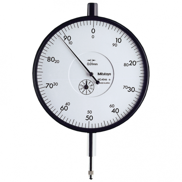 Mitutoyo 4046S (0.01mm) Lug Back Large Dial Indicator 10mm