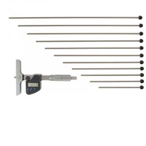 """MITUTOYO 329-351-30 Digimatic Interchangeable Rod Depth Micrometer 0-300mm(0-12"""")"""