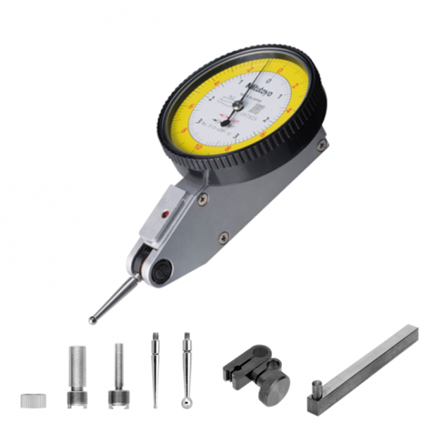 """Mitutoyo 513-409-10T (0.002mm) Horizontal Type Dial Test Indicator with 4/8mm Stem 0.2mm (0.0001"""")"""