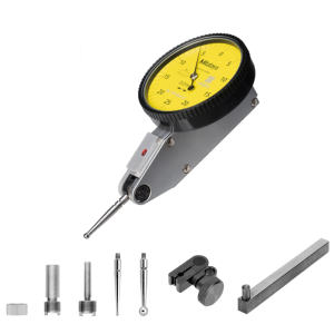 Mitutoyo 513-424-10T (0.01mm) Horizontal Type Dial Test Indicator 4/8mm Stem with Bracket 0.5mm