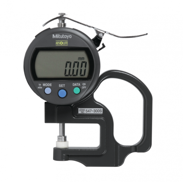 """Mitutoyo 547-300S (0.01mm/0.0005"""") ABSOLUTE Digimatic Thickness Gauge 0-10mm (0-0.4"""")"""