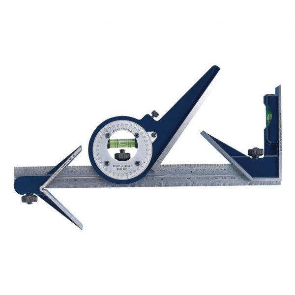 Moore & Wright CSM300 Full Set, 300mm Rule, Protractor Head, Square Head, Centre Head