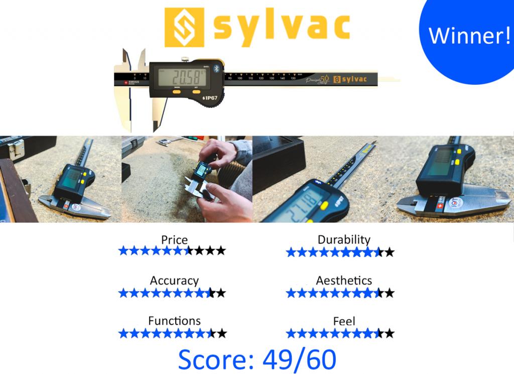 9 Best Digital Calipers: 1. Sylvac 30-810-1506/50 50 Years S_Cal EVO Bluetooth IP67 Digital Caliper
