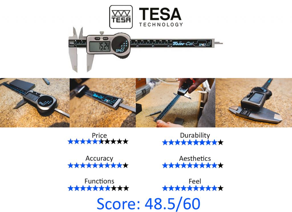 9 Best Digital Calipers: 2.TESA 00530319 Twin-Cal IP67 Digital Caliper