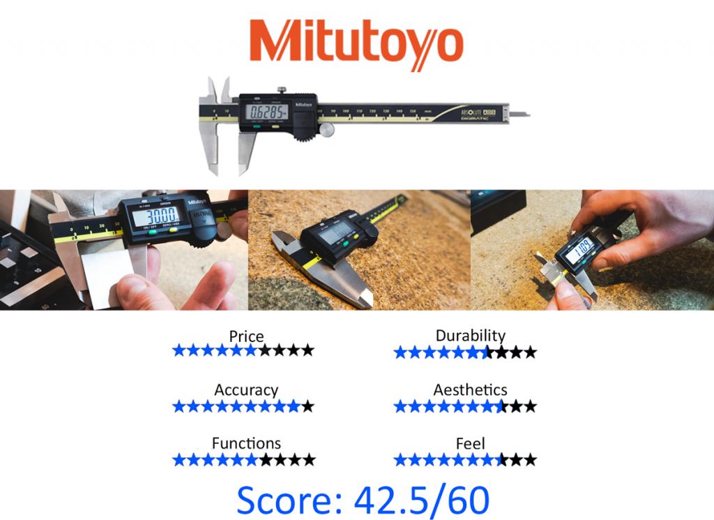 9 Best Digital Calipers: 6. Mitutoyo 500-196-30 ABSOLUTE AOS Digimatic Caliper
