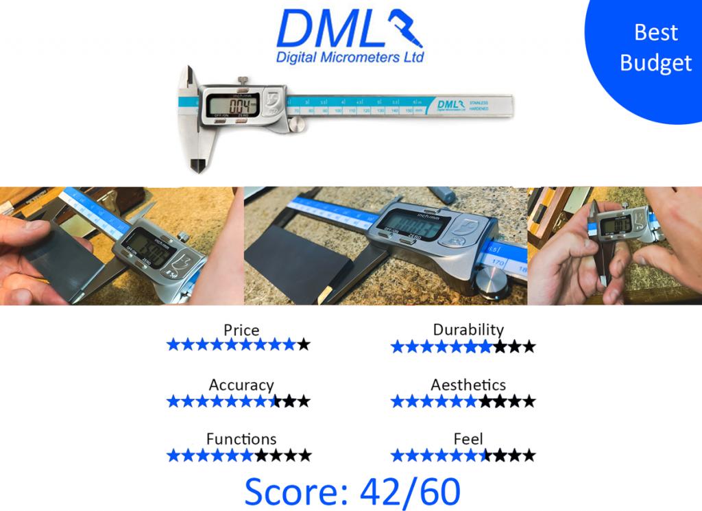 9 Best Digital Calipers: 7. DML DC54150 IP54 Digital Caliper