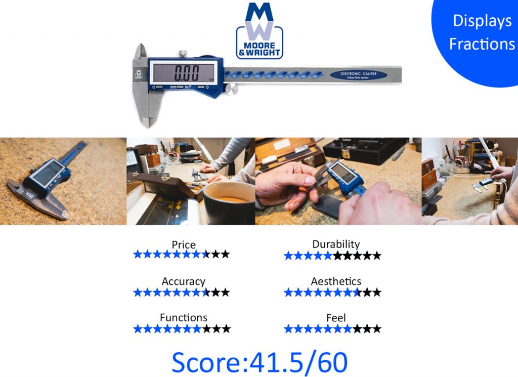9 Best Digital Calipers:  8. Moore & Wright MW110-15DFC Fractional Digital Caliper